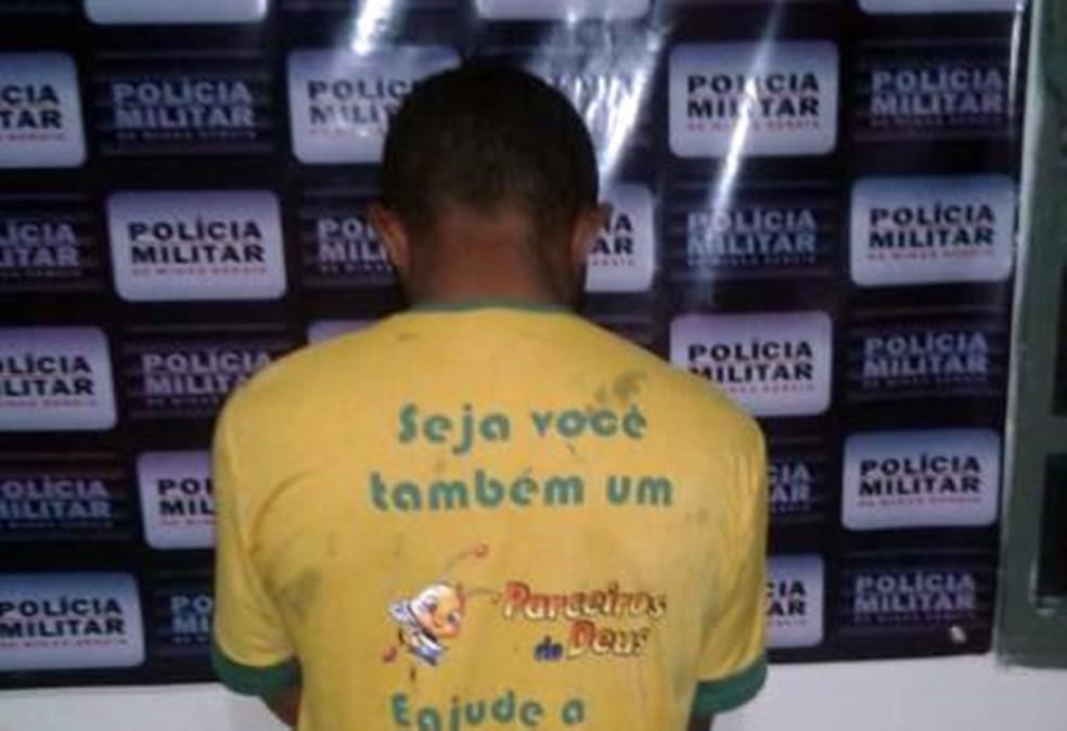 -  Homem suspeito de cometer crimes em Alagoas é preso em Alpinópolis, MG  Foto: Polícia Militar