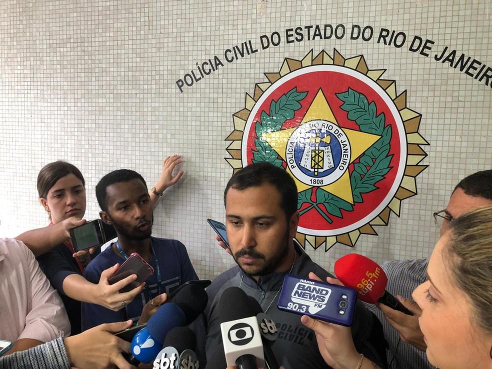 """Delegado Bruno Reis: """"Versão que alega legítima defesa é fantasiosa"""". — Foto: Carlos Brito"""