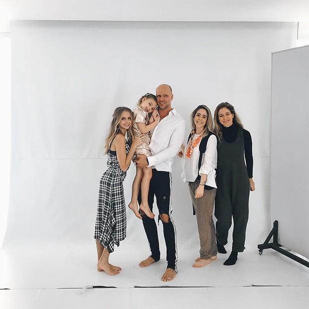 Fernando Scherer em ensaio com a família (Foto: Reprodução/ Instagram)