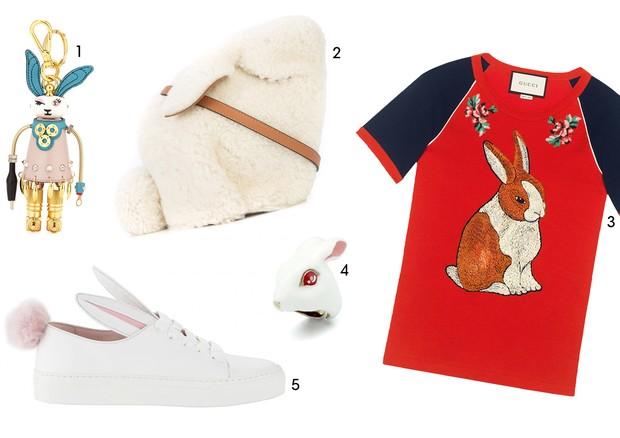 1. Prada 2. Loewe (R$10.370) 3. Gucci (R$3.600) 4. Good After Nine ($81.00) 5. Minna Parikka (€197.58) (Foto: Reprodução)