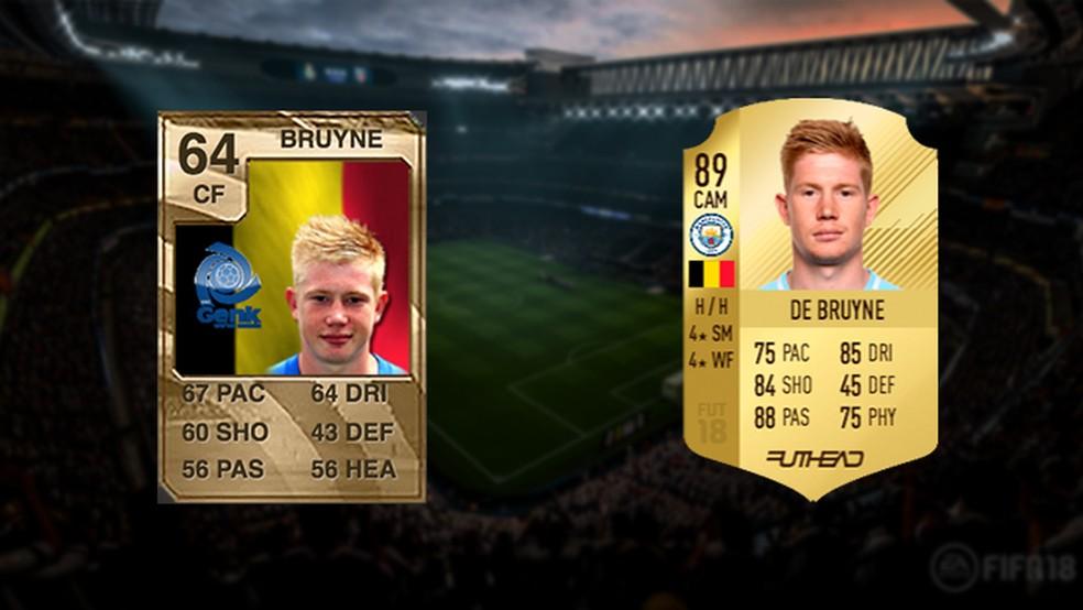 De Bruyne era apenas um menino em Fifa 10, e agora é um dos melhores do mundo (Foto: Reprodução/Murilo Molina)