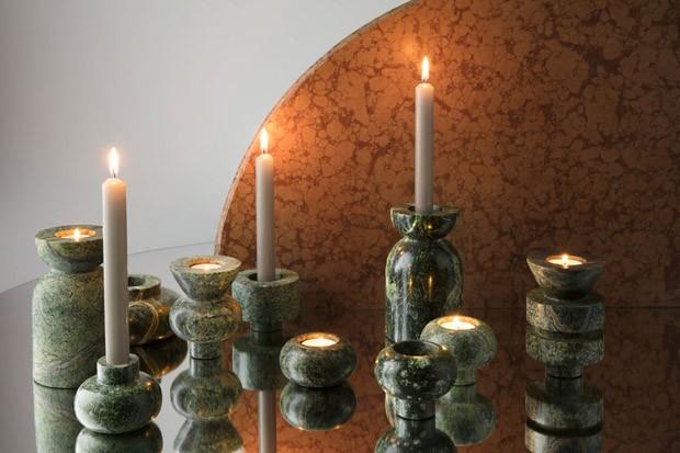 Tom Dixon lança peças em mármore verde inspiradas na Índia (Foto: Divulgação)