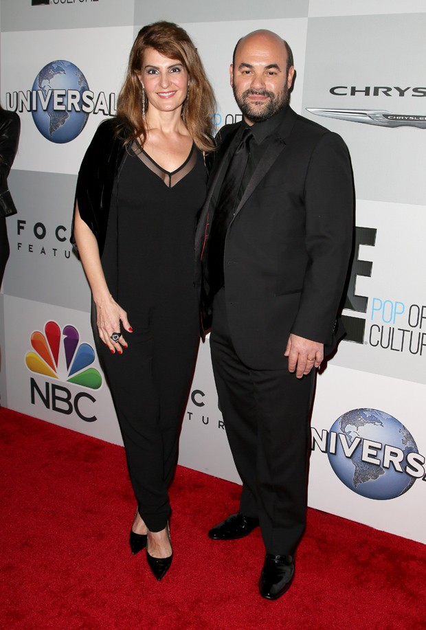 BEVERLY HILLS, CA - JANUARY 11:  (L-R) Actors Ian Gomez and Nia Vardalos attend the NBCUniversal 2015 Golden Globe Awards Party sponsored by Chrysler at The Beverly Hilton Hotel on January 11, 2015 in Beverly Hills, California.  (Photo by Chelsea Lauren/G (Foto: Getty Images for Chrysler)