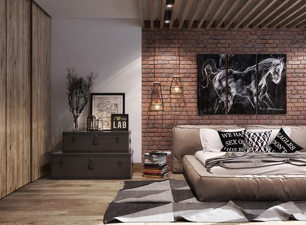 O capricorniano é prático, por isso, é provável que a decoração no estilo de um loft seja uma de suas preferidas (Foto: Behance/ Reprodução)