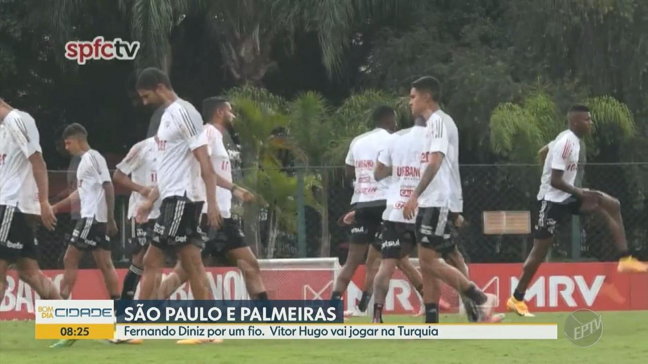 Fernando Diniz está por um fio no São Paulo e Vitor Hugo vai jogar na Turquia