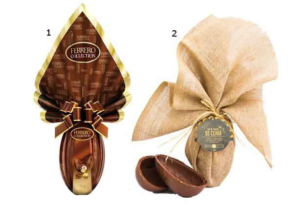 1.Ovo Ferrero Collection, Ferrero Rocher/ 2. Ovo Doc Ceará, Sucré Pâtisserie por Lia Quinderé (Foto: Divulgação)