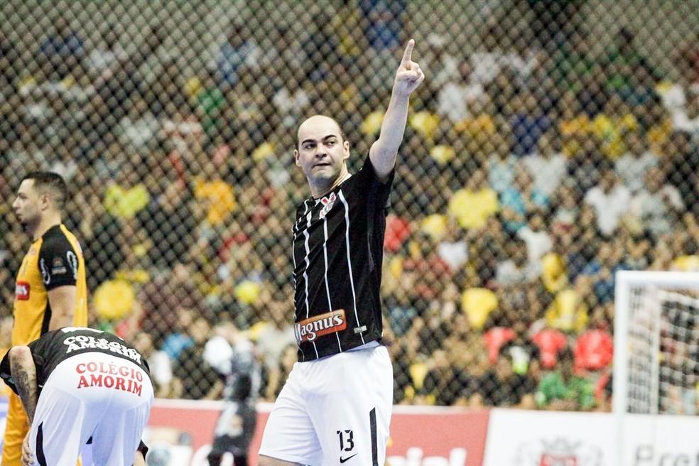 Wilde marcou duas vezes para o Corinthians no primeira tempo da decisão contra o Sorocaba  — Foto: Yuri Gomes/Elite Comunicação
