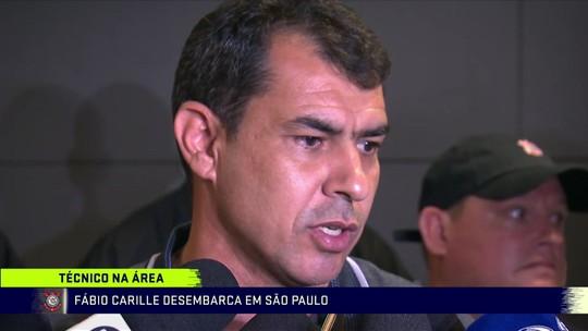 Fábio Carille desembarca em São Paulo para assumir o comando do Corinthians