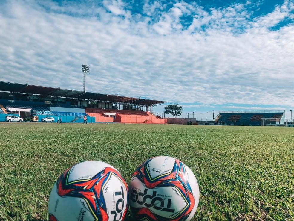 Estádio Albino Turbay recebe Cianorte x Londrina — Foto: Diego Menegon/Cianorte FC