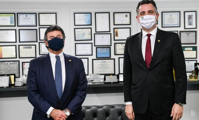 Rodrigo Pacheco e Luiz Fux