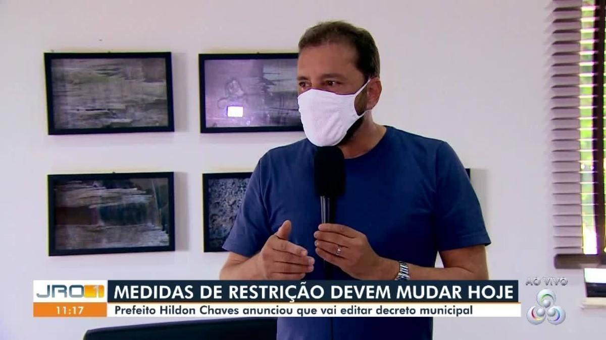 Decreto proibindo shows e eventos em Porto Velho deve sair na segunda, 21, diz prefeito Hildon Chaves