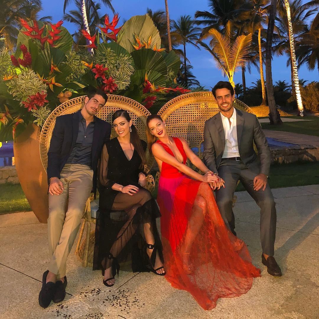 Enzo Celulari, Victoria Grende, Marina Ruy Barbosa, Xande Negrão (Foto: Reprodução Instagram)