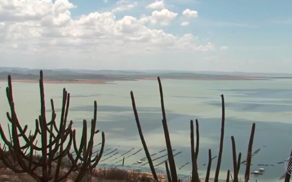 Barragem de Sobradinho, no norte da Bahia (Foto: Reprodução/ TV São Francisco)