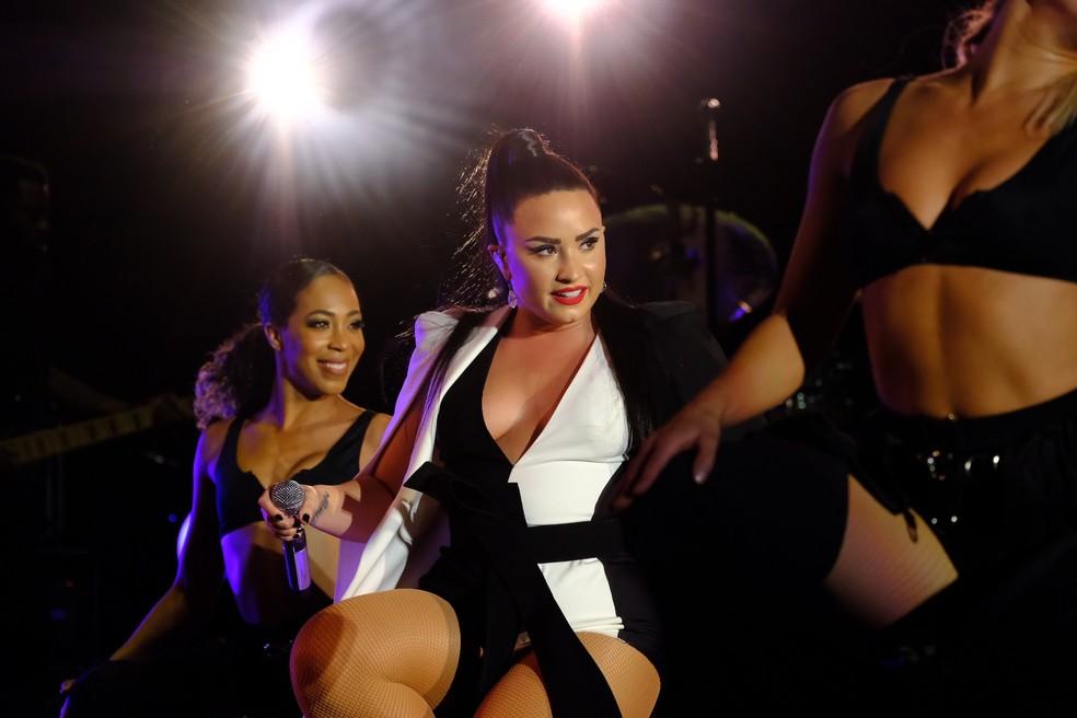 Demi Lovato no Rock in Rio Lisboa (Foto: Divulgação)