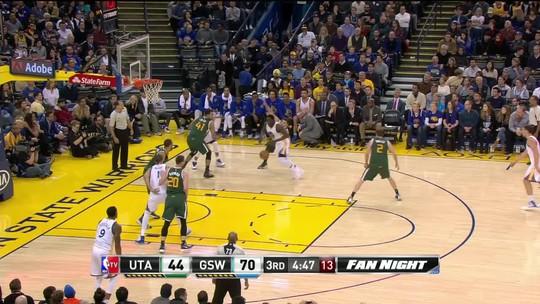 Em nova vitória tranquila, Golden State Warriors faz 104 a 74 sobre Utah Jazz