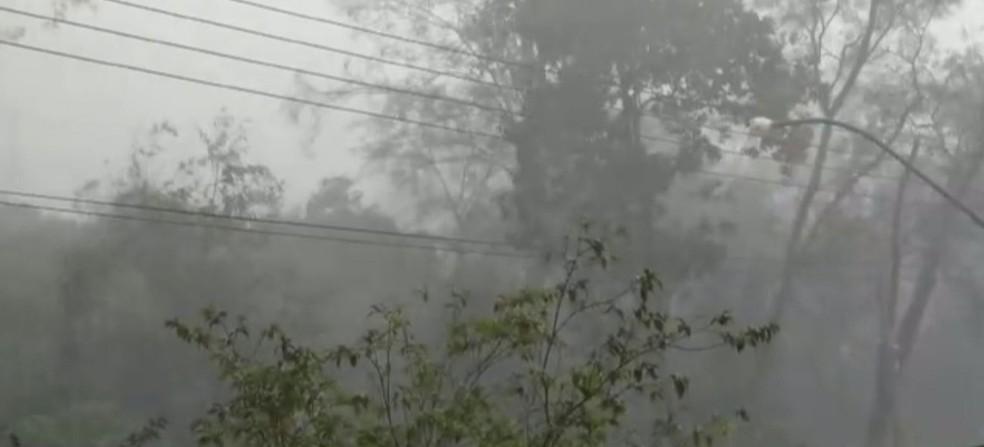 Chuva em Ribeirão Preto (SP) — Foto: Reprodução/EPTV