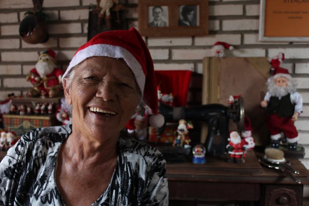 Decoração de Natal no Lar dos Velhinhos, em Sobradinho DF — Foto: Divulgação
