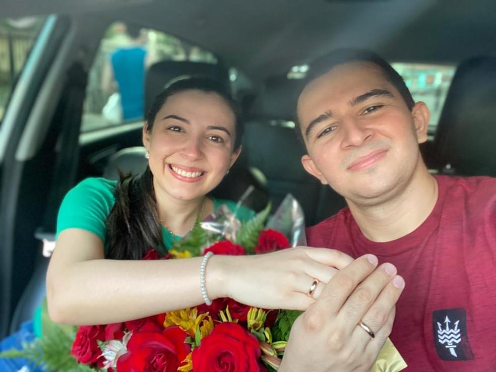 José e Natália pretendem se casar no início de 2021 — Foto: Foto: Arquivo Pessoal/José Passos