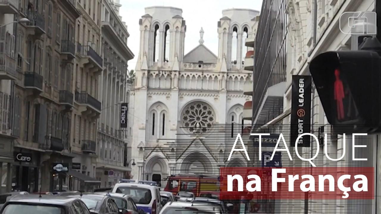 Ataque a faca deixa três mortos em Nice, na França