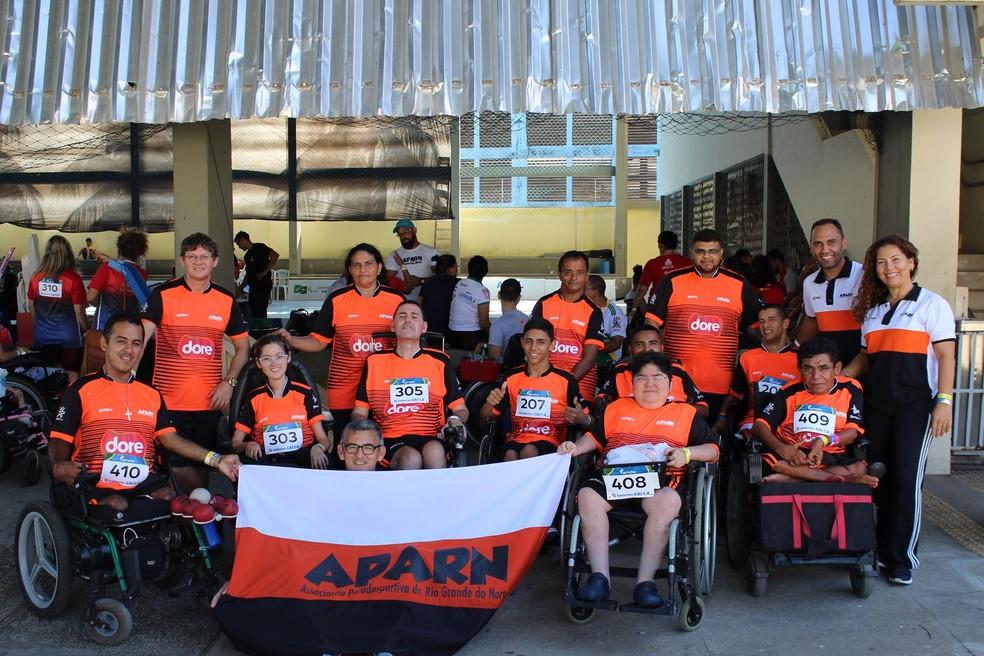 Aparn representa o Rio Grande do Norte no Regional de Bocha Paralímpica (Foto: Kelvin Oliveira/Ideia Comunicação)