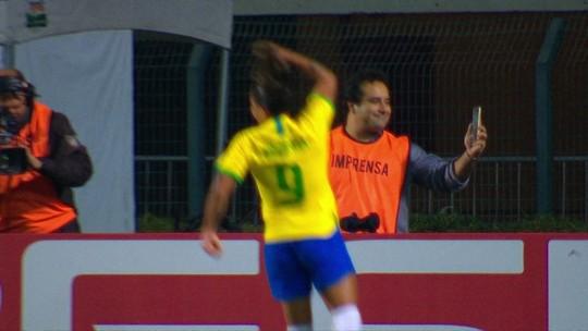 Os gols de Brasil 5 x 0 Argentina pelo Torneio Internacional de futebol feminino