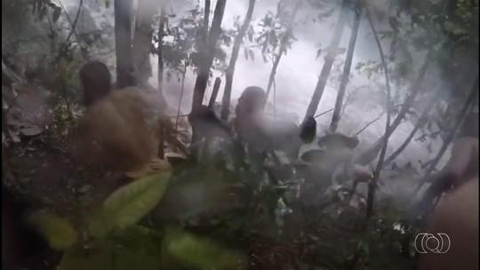 Tromba d'água assusta turistas na Chapada dos Veadeiros; veja vídeo