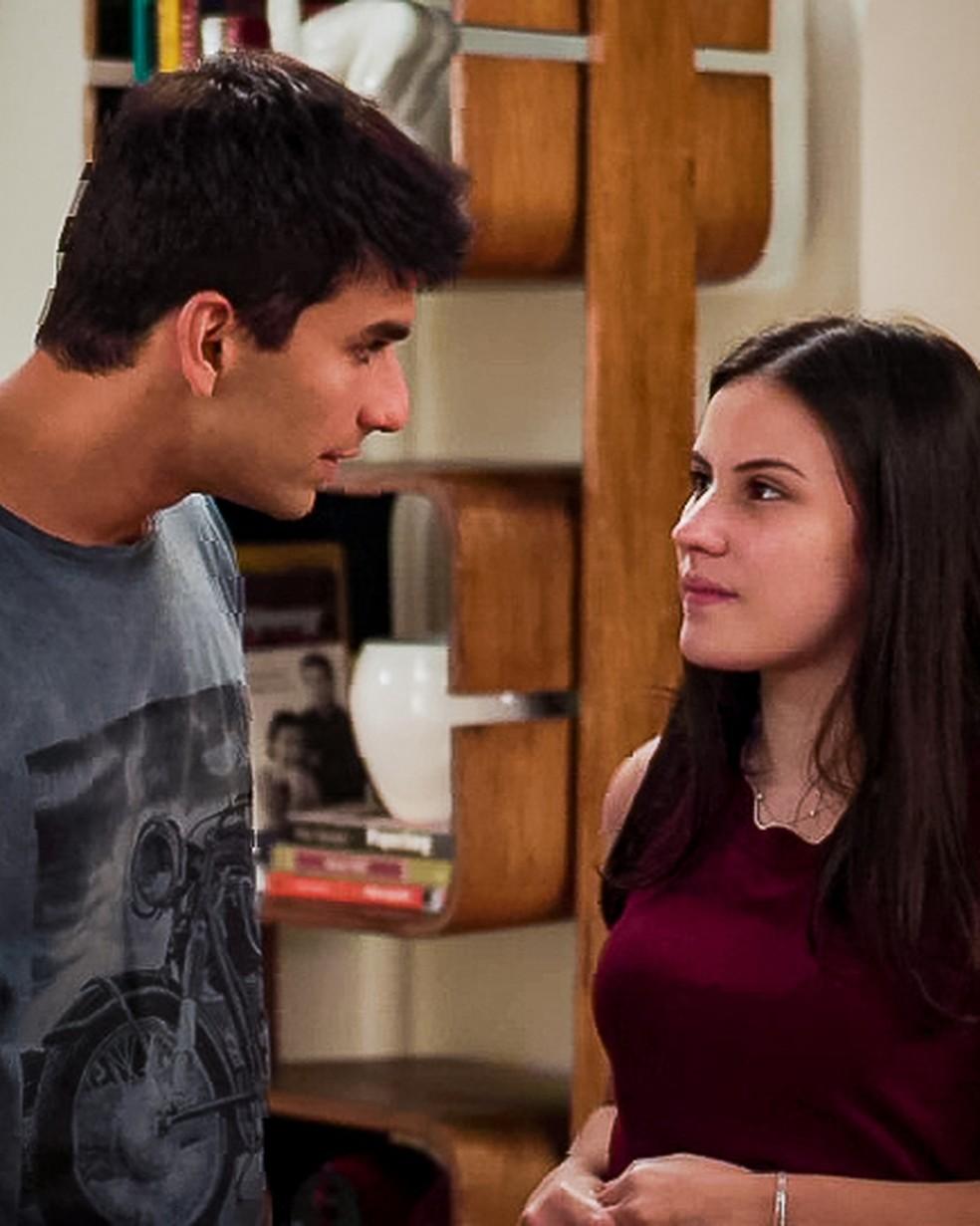 'Quem disse que eu quero ouvir?', questiona Milena (Giovanna Rispoli) em cena de 'Malhação - Toda Forma de Amar' — Foto: Globo