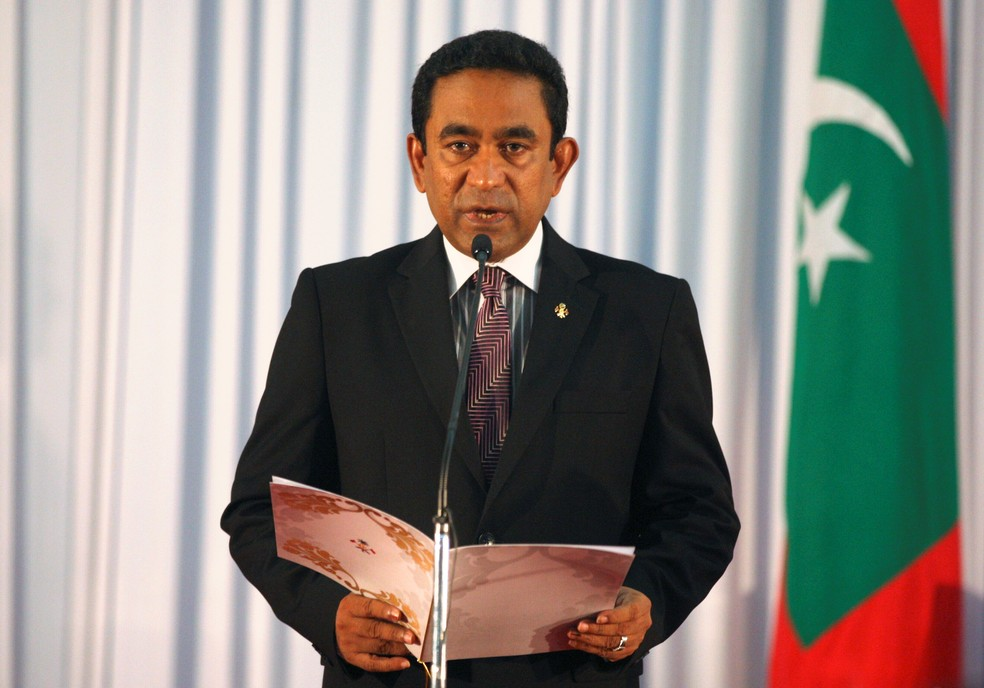 O presidente das Maldivas, Abdulla Yameen, em imagem de arquivo (Foto: Waheed Mohamed/File Photo/Reuters)