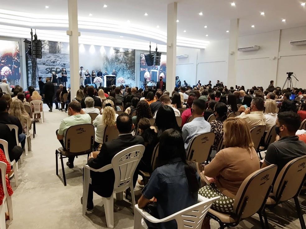 Igreja AD Brás foi interditada por descumprir decreto e realizar culto com aglomeração, em João Pessoa — Foto: Reprodução/Instagram