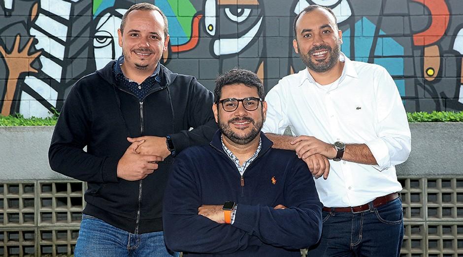 Gustavo Ferreira, Fábio Freire e Tiago Lira, fundadores da FindUP: Magazine Luiza e Walmart estão entre os clientes (Foto: Divulgação)