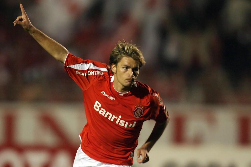 Rafael Sobis marcou ao menos um gol pelo Inter nas Libertadores de 2006, 2010 e 2019 — Foto: Jefferson Bernardes / VIPCOMM, DVG