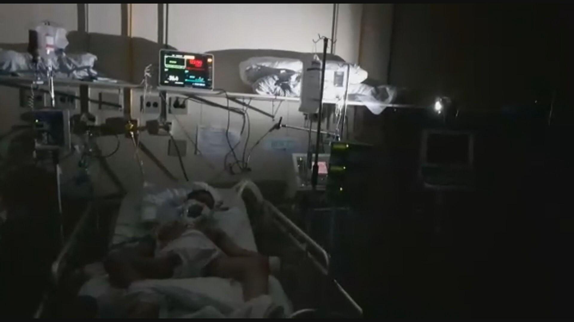 Servidores do Hospital Júlia Kubitscheck, em BH, denunciam falta de energia elétrica no setor de emergência à Covid-19