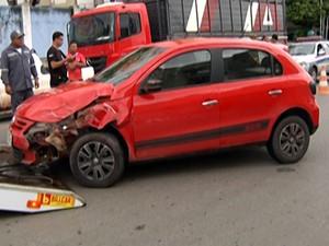 Ptran informou que acidente ocorreu após motorista perder controle. (Foto: Reprodução/TV Tapajós)