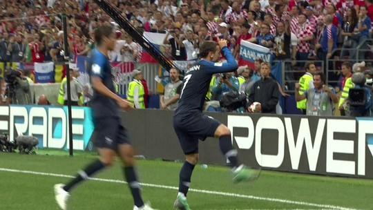 Replay? Em gol de Griezmann na final da Copa, Fortnite aparece mais uma vez