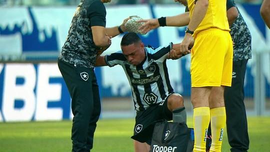 Luiz Fernando, do Botafogo, vomita em campo e é substituído aos 19 minutos do primeiro tempo