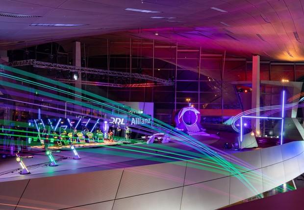 Semifinal da  Drone Racing League (DRL) ocorreu em Munique, na Alemanha, no final de julho (Foto: Divulgação DRL)