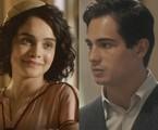 Carol Macedo e Danilo Mesquita são Inês e Carlos em 'Éramos seis' | TV Globo