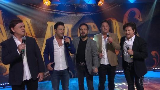 'Amigos' se reúnem para turnê pelo Brasil e dão prévia no Fantástico