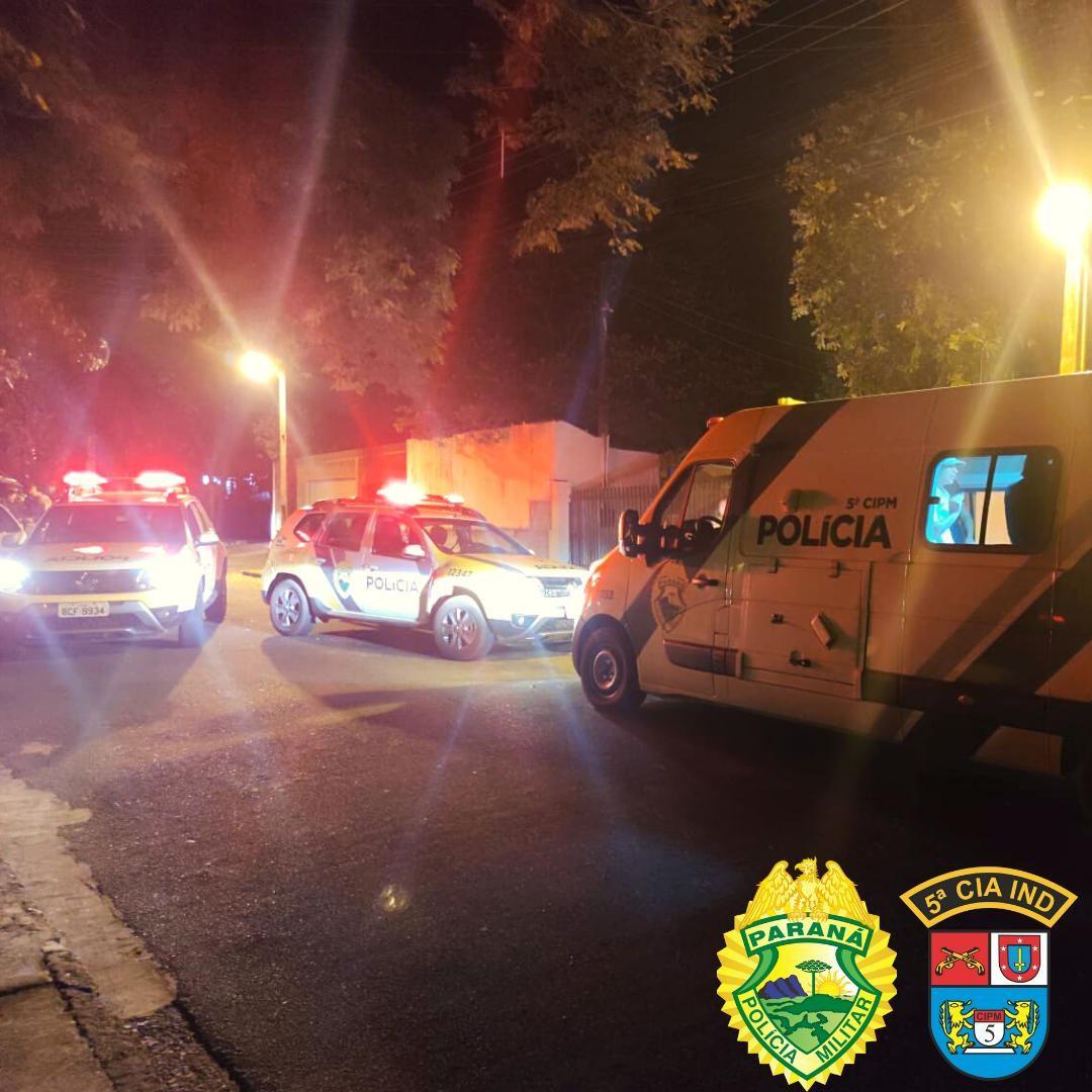 Polícia prende 13 pessoas e apreende quatro adolescentes durante festa, em Cianorte