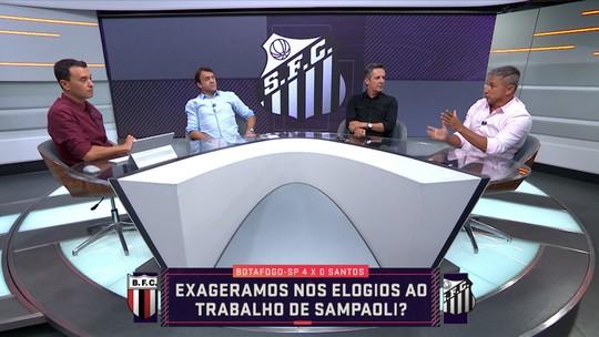 """Seleção SporTV analisa derrota do Santos, e André Rizek diz: """"Exageramos nos elogios"""""""