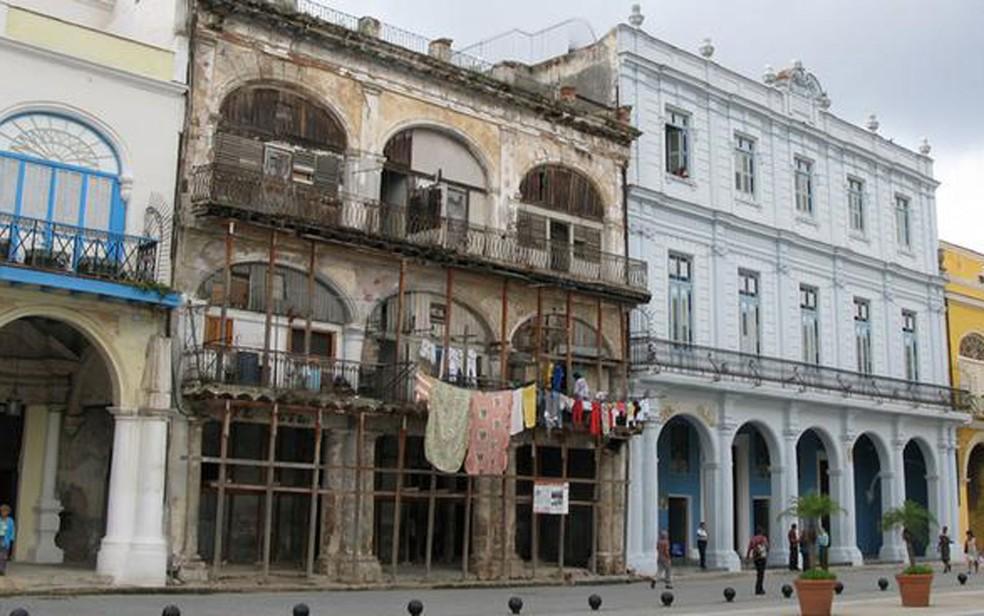 Polarização da sociedade se reflete também nas condições dos prédios em Havana (Foto: DW/A. Valle)