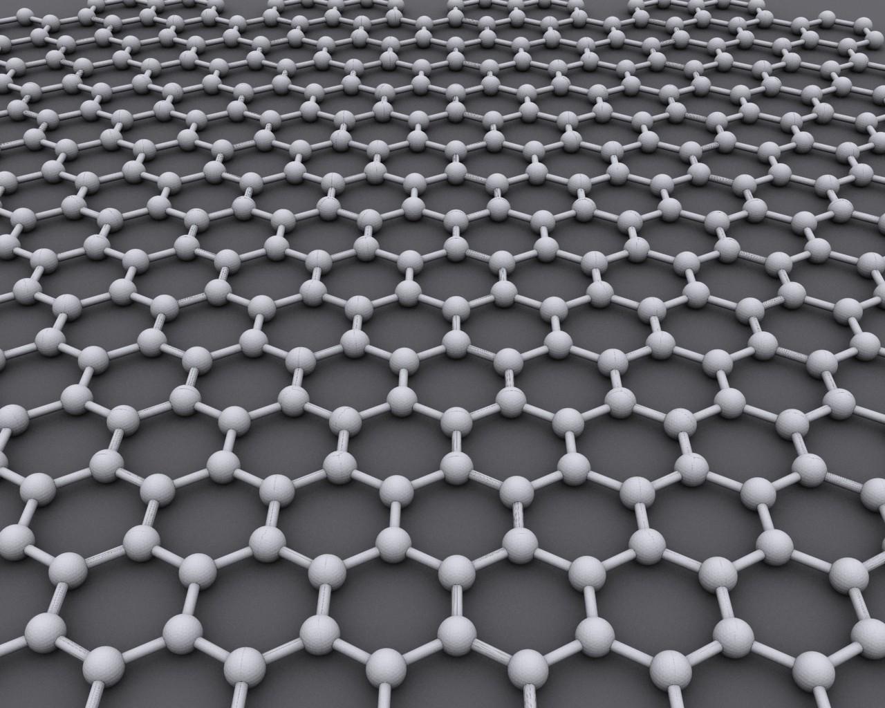Representação gráfica do grafeno, um retículo hexagonal feito inteiramente de átomos de carbono. (Foto: Creative Commons)