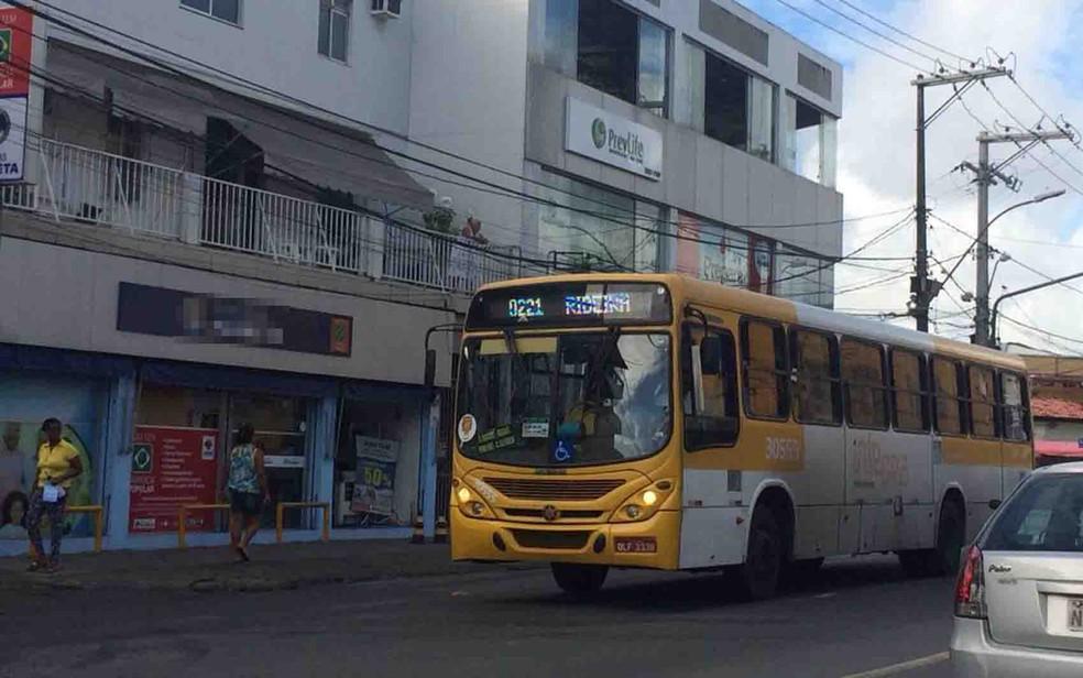 Ônibus Salvador  — Foto: Andreia Silva/ TV Bahia