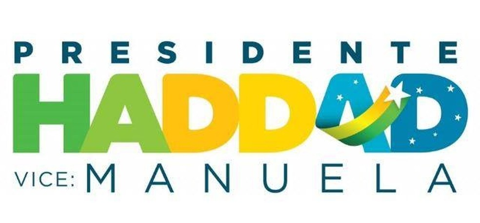 Logomarca de Haddad lançada no segundo turno — Foto: Reprodução, PT