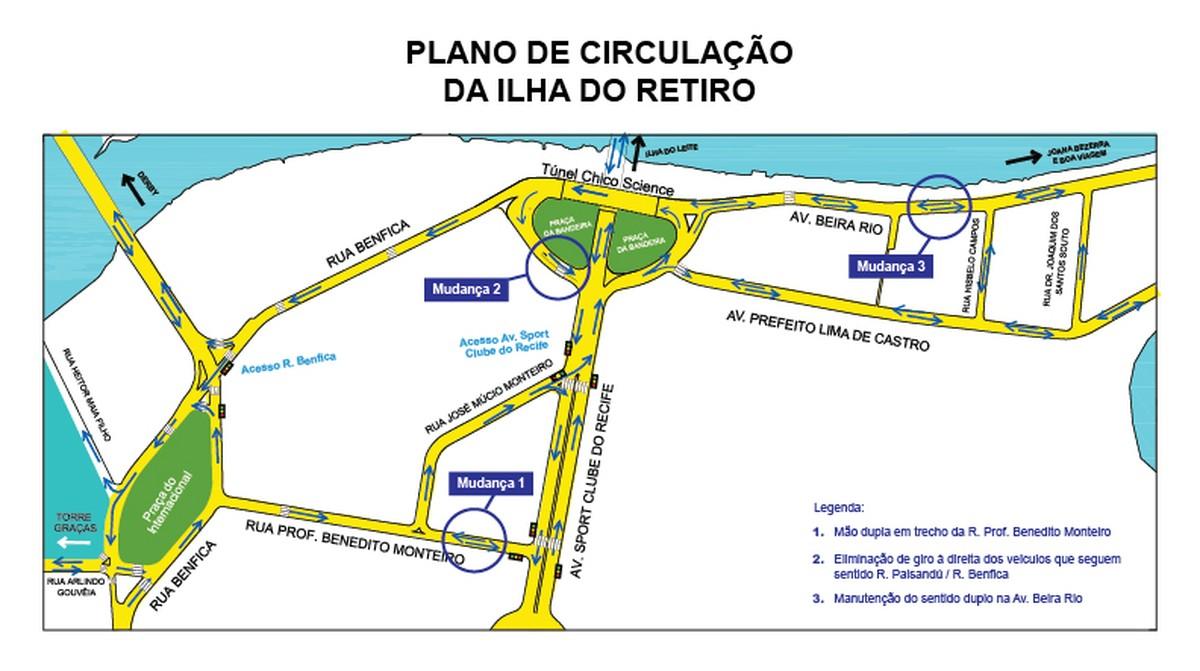 Trânsito no bairro da Ilha do Retiro passa por segunda fase de mudanças
