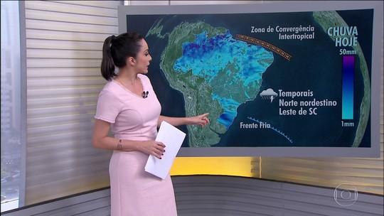 Vai chover mais em boa parte das áreas já afetadas pela chuvarada no Norte e Nordeste