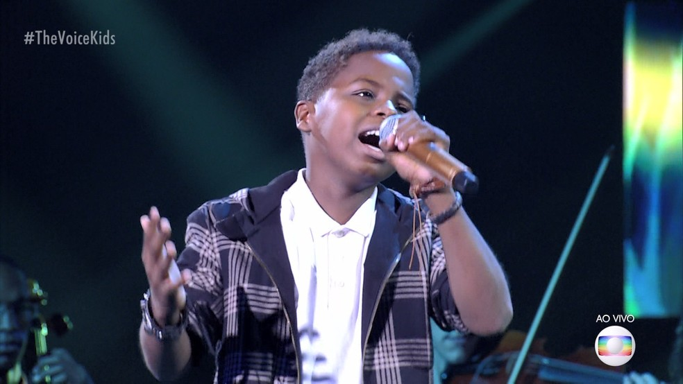 Capixaba Jeremias vence mais uma etapa e está na final no The Voice Kids — Foto: Reprodução/ TV Gazeta