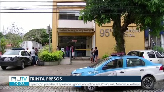 30 pessoas são presas na 2ª etapa da Operação Coliseum em Vassouras