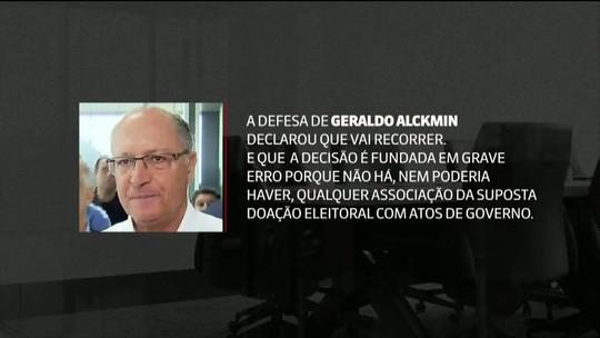 Alckmin vira réu e Justiça de SP pede bloqueio de bens