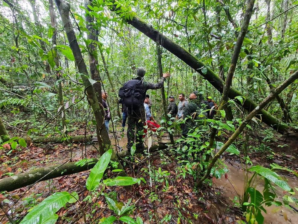 Buscas por adolescentes desaprecidos em Calçoene — Foto: COE-Bope/Divulgação